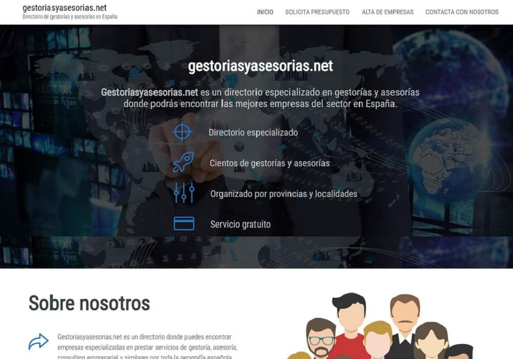 Desarrollo página web gestoriasyasesorias.net captura
