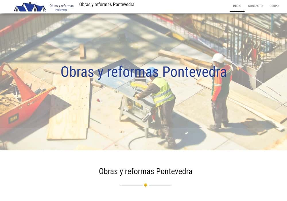 Diseño web Obrasyreformaspontevedra captura